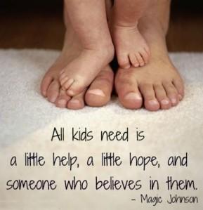 inspired parenting, believe in kids